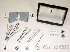 ★JFC/ジャストフィット KJ-D75D ムーヴ 異形ラジオ付車用取付キット