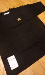 RASTARS★デザインワンポイント半袖Tシャツワッフル素材サイズXL→2XL位黒ブラック