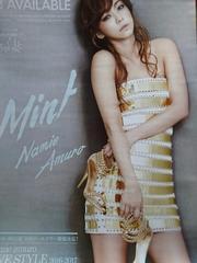 安室奈美恵「Mint」告知ポスター