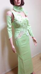 新品ageha…スパンビジュ盛り�Aドレス 緑☆3点で即落☆