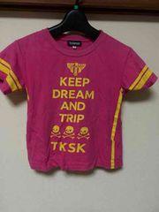 TK SAPKID/半袖Tシャツ/Tシャツ/110cm/スカル/ドクロ