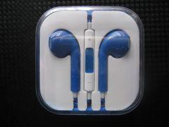 新品 iPhone iPod touch用 イヤホンマイク 青