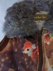 ●muchacha●  ラビットファー付バンビジャケット M 美品