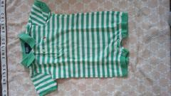 ラルフローレン ショートオール 9M ボーダー 緑×白 used