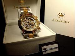 英国美しい四ツ目クロノ搭載GOLDジョンハリソン自動巻き腕時計