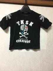 TK SAPKID/スカル/七分袖/Tシャツ/100cm/ブラック