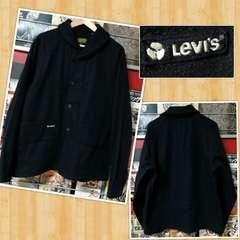 Levi's リーバイス ウールジャケット TYPE:LSC・99W L ネイビー 月桂樹 ショールカラー