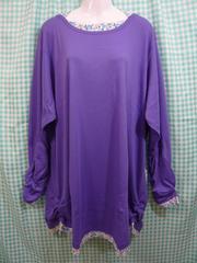 ◆新品◆大きいサイズ◆ホルターネックTシャツ パープル◆10Lサイズ◆