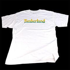 新品 ティンバーランド/半袖ロゴ Tシャツ/L/白黄緑/TIMBERLAND