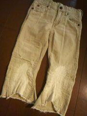 ●ムチャチャ● ダメージ加工半端丈パンツ XL(130前後)