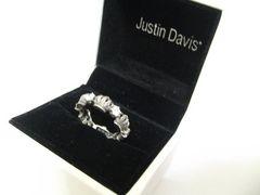 Justin Davisジャスティンデイビス.クラウン&クリスタルデザインリング17号.定価30240