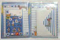 新品◆ドナルドダック*ファイル入りレターセット便箋/Desney