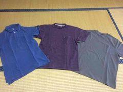 まとめ売り 3点 メンズ 半袖 トップス ポロシャツ Tシャツ M