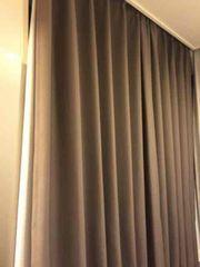 ニトリブラウンカーテン トップバリューレースカーテン