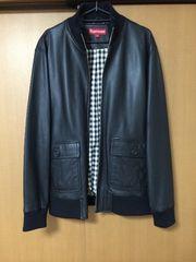 Supreme Leather Bomber Jacket  �o�� �E�˙�LINE �L���^�NLOGO