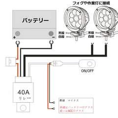 24vトラック・バス用/フォグランプ・作業灯用リレーハーネス