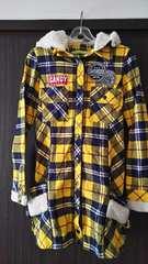 BANANA  SEVEN  チェックロングシャツ  黄色