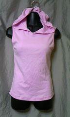アメリカンアパレル フード付きノースリーブTシャツ M 未使用品 ピンク