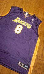 NBAレイカース紫黄 ゲームシャツ タンクトップ サイズ2XLXXL→3XL位 �@
