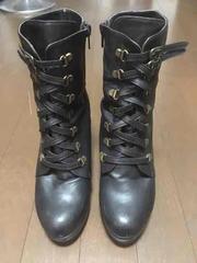 プラットフォーム ブーツ ブラック L