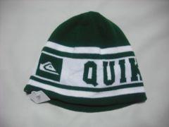 mb239 男 QUIKSILVER クイックシルバー ニット帽 緑