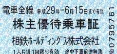 相鉄ホールディングス 株主優待乗車証 40枚 切符型 電車全線