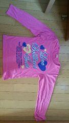 ピンクの長袖Tシャツ【160�a】