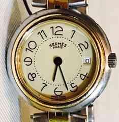 良品エルメスプロフィールレディース時計コンビ稼働品クリッパー