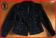 難アリブラックラメ入りジャケット入学式結婚式 購入時5万円
