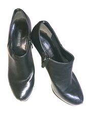 R&E アールアンドイー ブーティー レザー ハイヒール 黒/ブラック ブーツ 靴 美ヒール