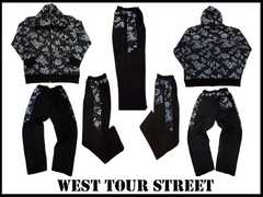 新 west tour street 新柄 セットアップ 黒 2XL