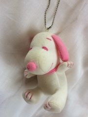 A:ピンク可愛いSNOOPY(スヌーピー)★チェーンキーホルダー