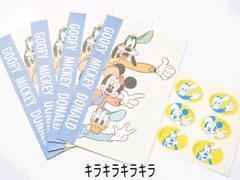 ポチ袋/ミニ封筒ミッキーマウスと仲間達<シール付>4枚セット