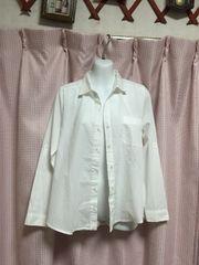 新品groveクレリックカシュクール2wayシャツ白オフホワイト就活