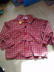 ミキハウス 80 長袖シャツ 男の子でも