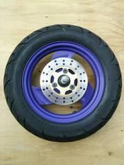 スーパージョグZ フロントホイール タイヤ付き  3YK JOG 紫
