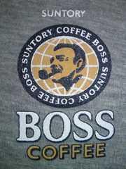サントリー 缶コーヒー BOSS ボス 限定 レインボー ライン グレー Tシャツ フリーサイズ