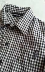 コムサイズム チェックシャツ Yシャツ  90�p 即決