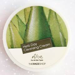 よく落ちてしっとり肌♪アロエ&ハーブクレンジングクリーム☆365日綺麗な肌へ