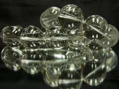 クリスマスギフトに♪本水晶クリスタル22ミリ×20ミリ数珠ブレス!!ペア価格