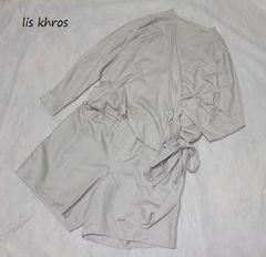 リスクロース*lis khros*フェリシモカシュクールオールインワン(LT)新品