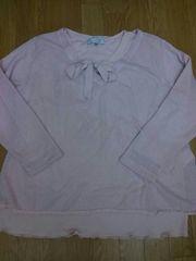 ◆大きいサイズの二枚重ねの可愛い長袖◆
