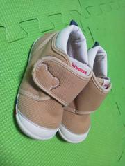 ミキハウス定番スニーカー靴13センチベージュ