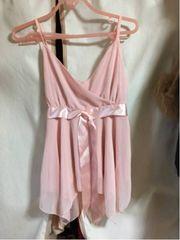 イングINGNI ピンクのシフォンキャミソール