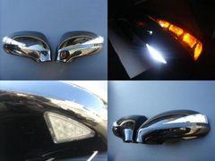 ホンダ LEDウィンカー&フットランプミラーカバー ストリーム 黒