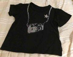 GITA◆120◆カメラプリント半袖Tシャツ◆ブラック