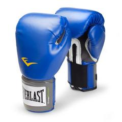 新品 送無 Everlast 練習用ボクシンググローブ16ozブルー