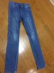 H&M☆135/8-9y☆ブルーデニムレギンス