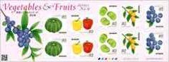*H28.野菜とくだもの第6集グリーティング切手記念切手シール切手\82