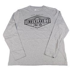 新品 ティンバーランド/長袖Tシャツ/L/グレー/TIMBERLAND